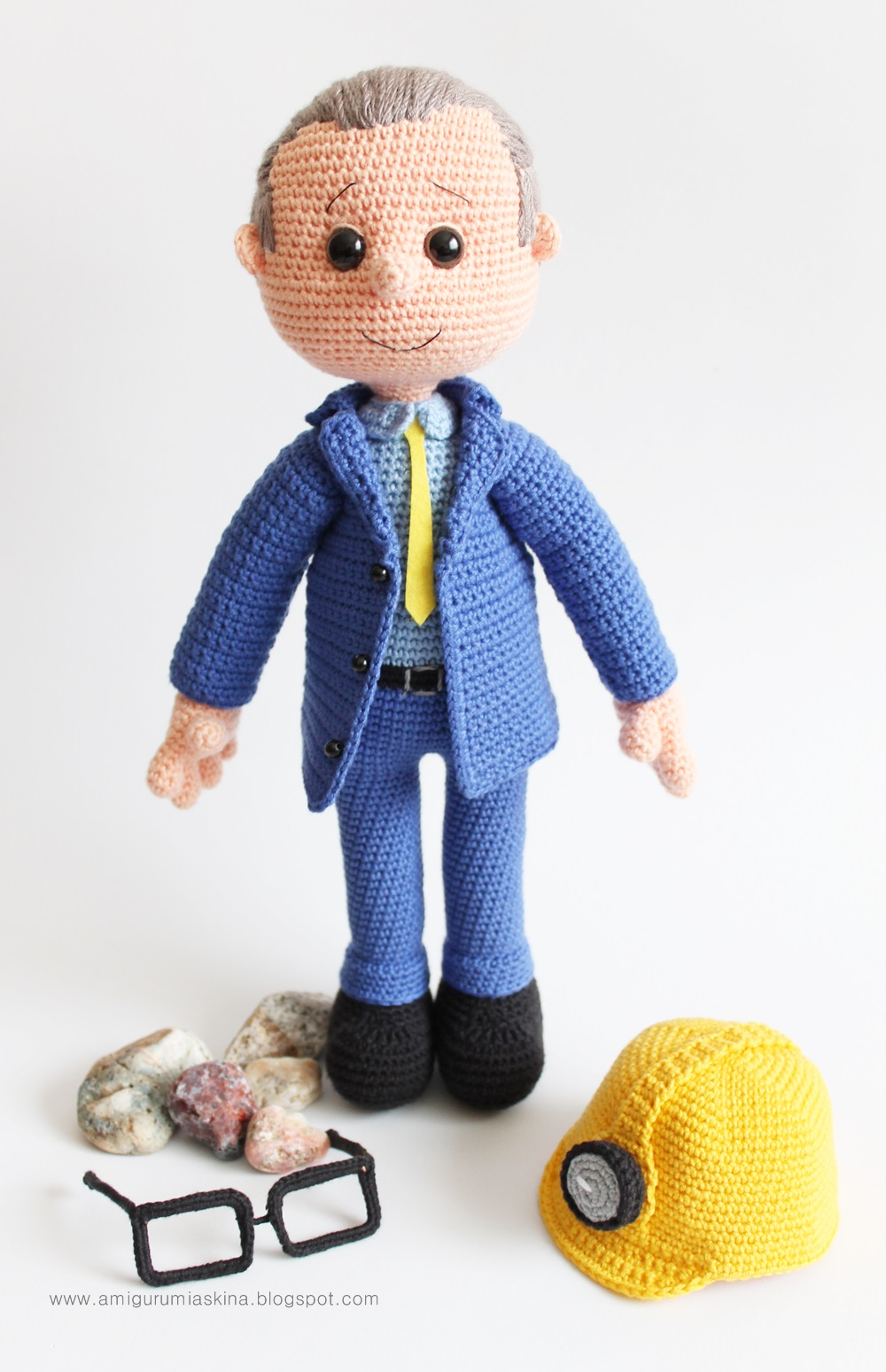Amigurumi Madenci -Amigurumi Coal Miner Doll Tiny Mini ...