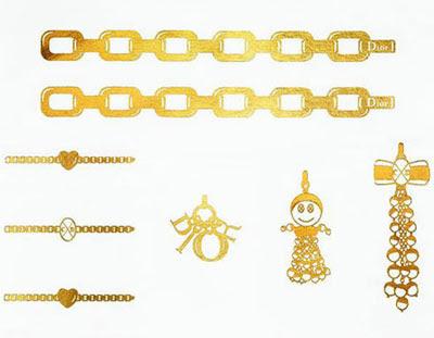 tatuajes Dior oro