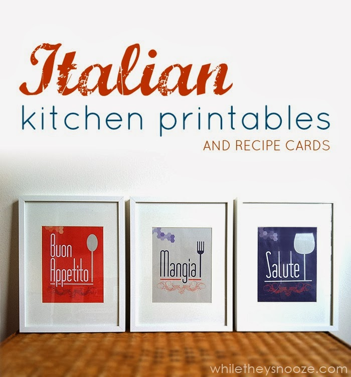 While they snooze printables for Italian kitchen prints