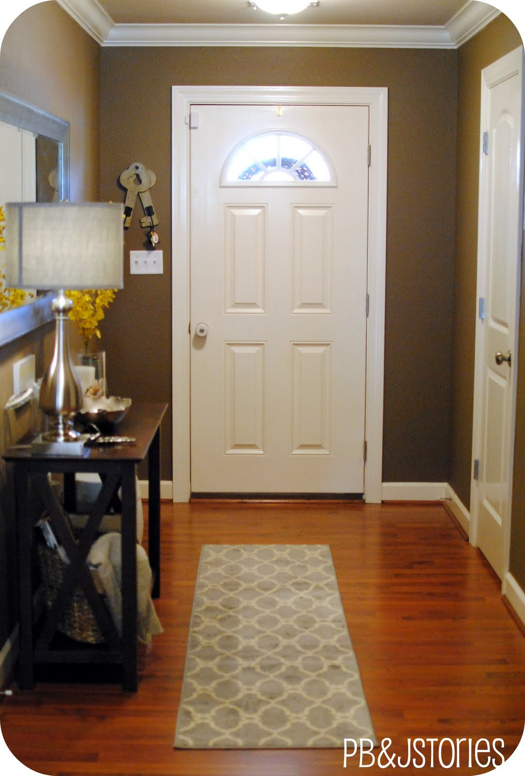 Foyer Paint Jobs : Pbjstories house tour entryway