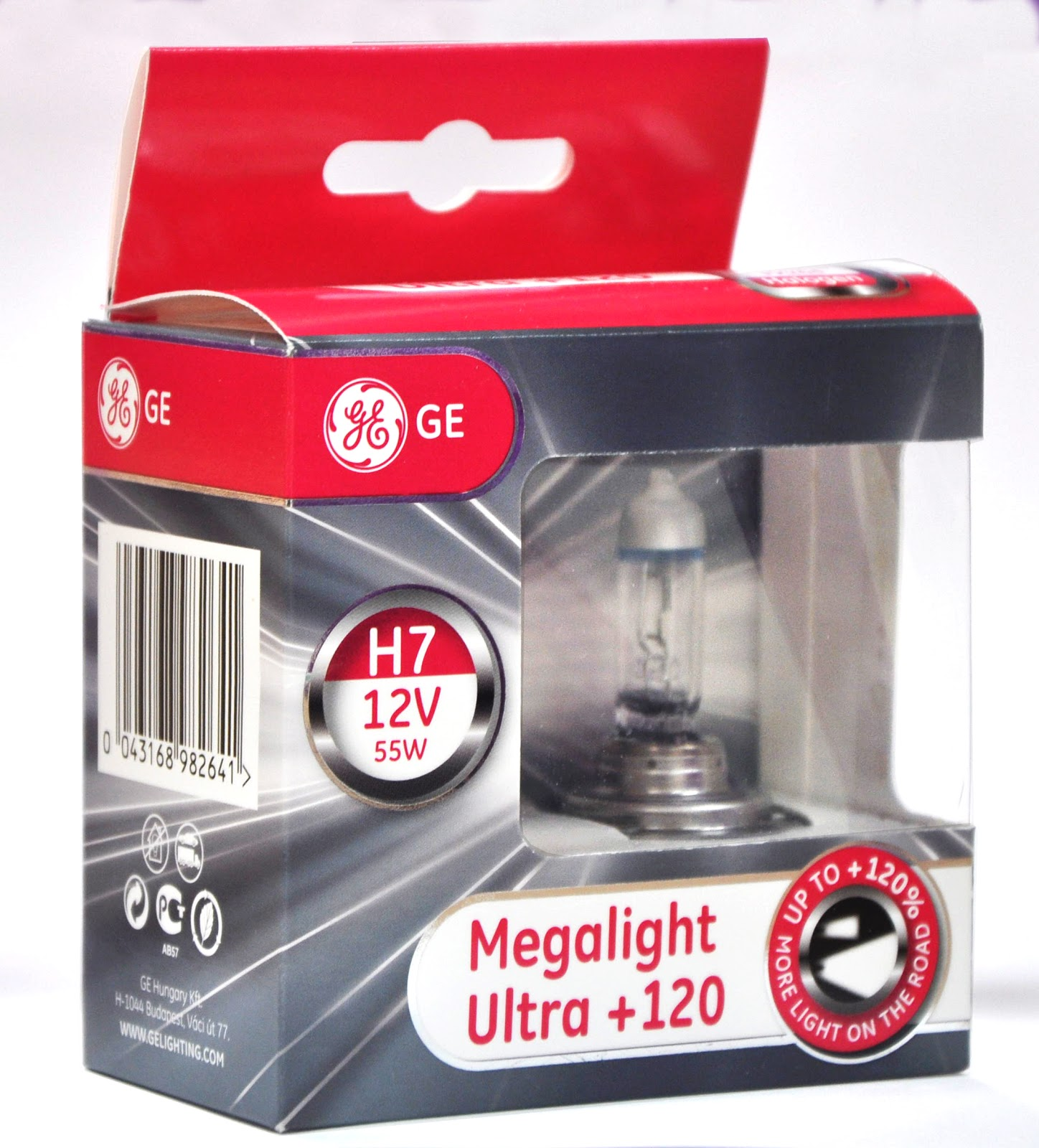 ge megalight h7 xenon 120 brighter pair. Black Bedroom Furniture Sets. Home Design Ideas