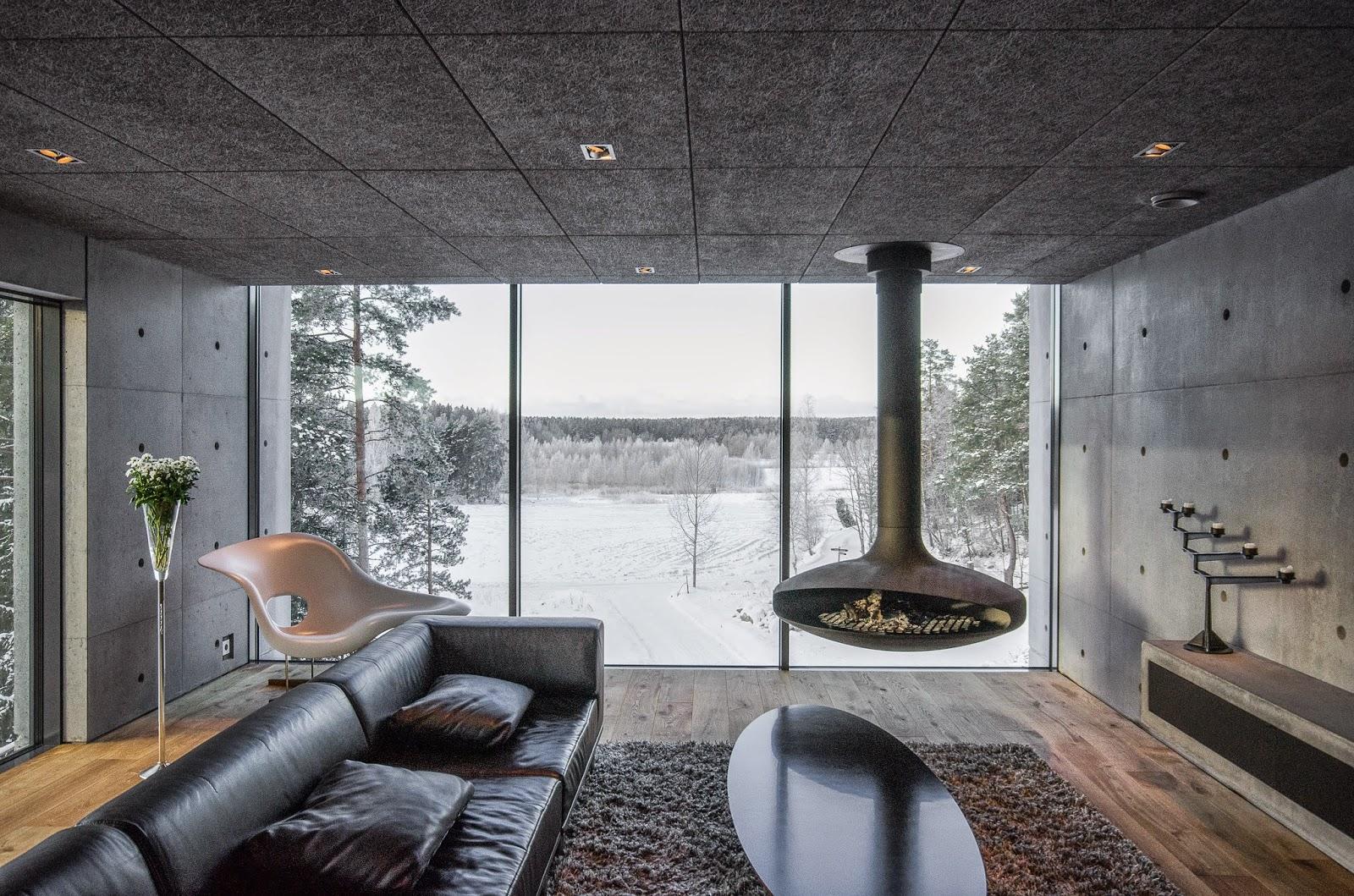 Minimalistisches betonhaus