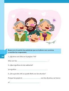 Apoyo Primaria Español 1er grado Bimestre 5 lección 12 Rafa y sus abuelos