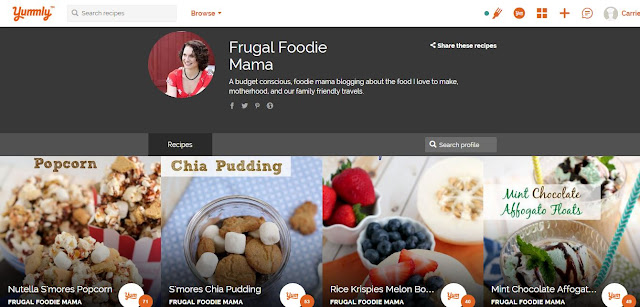 The Frugal Foodie Mama site got a new & freshened design. Plus let's chat a little about why you need to be on Yummly now.