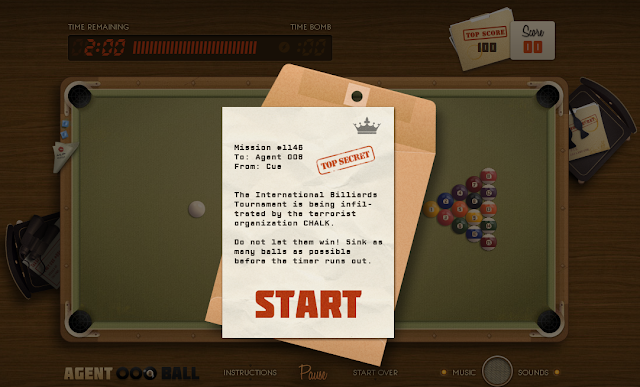 Great Online HTML5 Games:Agent 008 Ball
