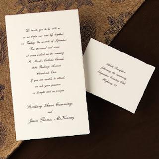 Convites simples de casamentos