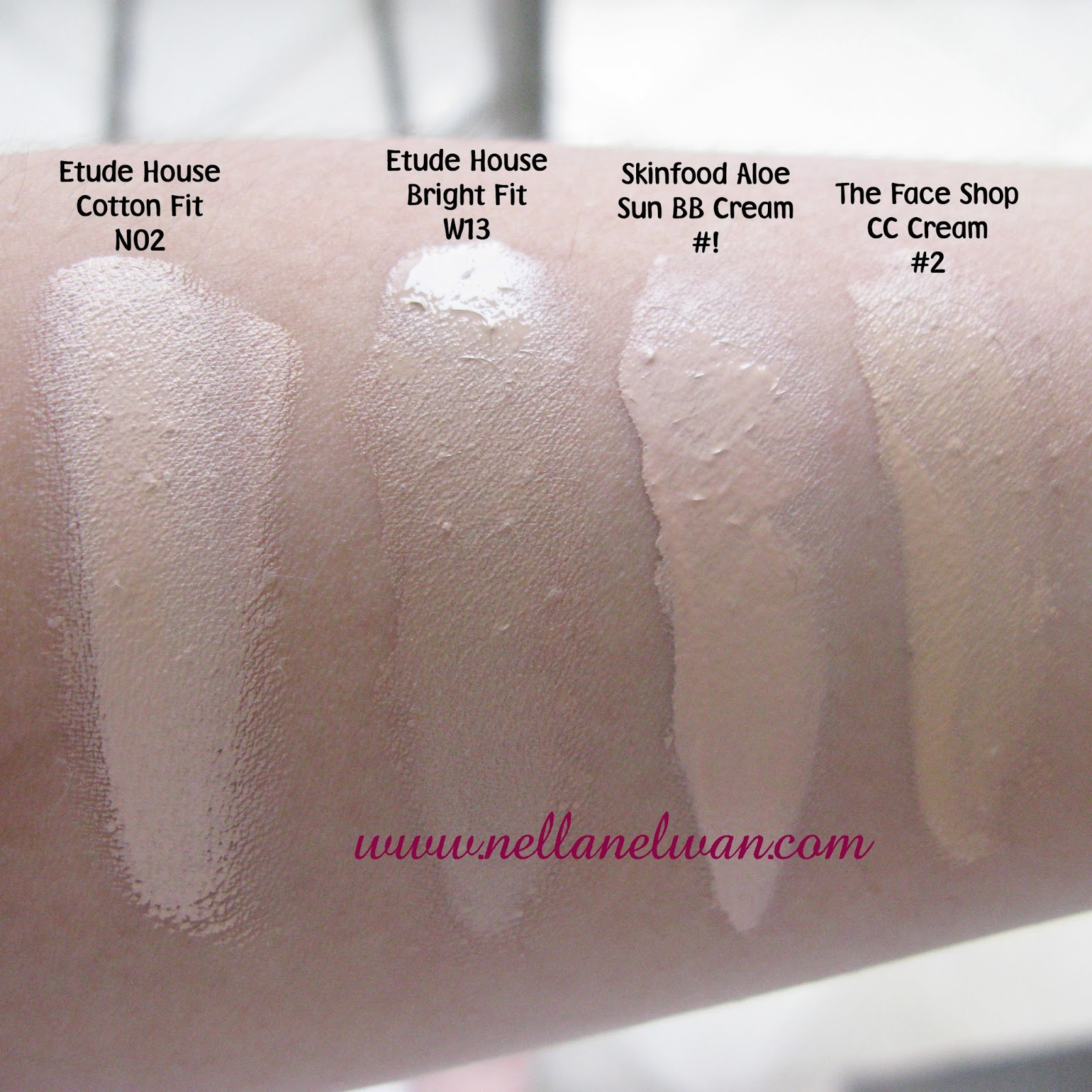 bb cream swatches nellanelwan.com
