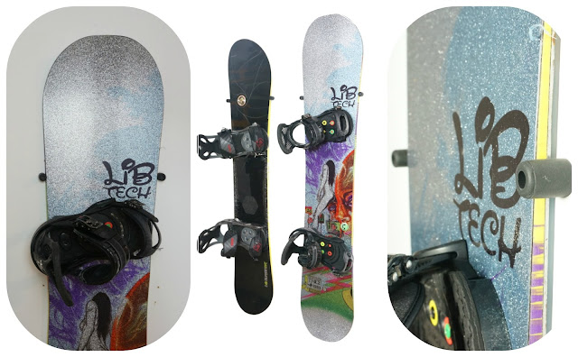 vertical snowboard rack