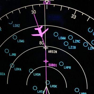 Radar de aviones comerciales