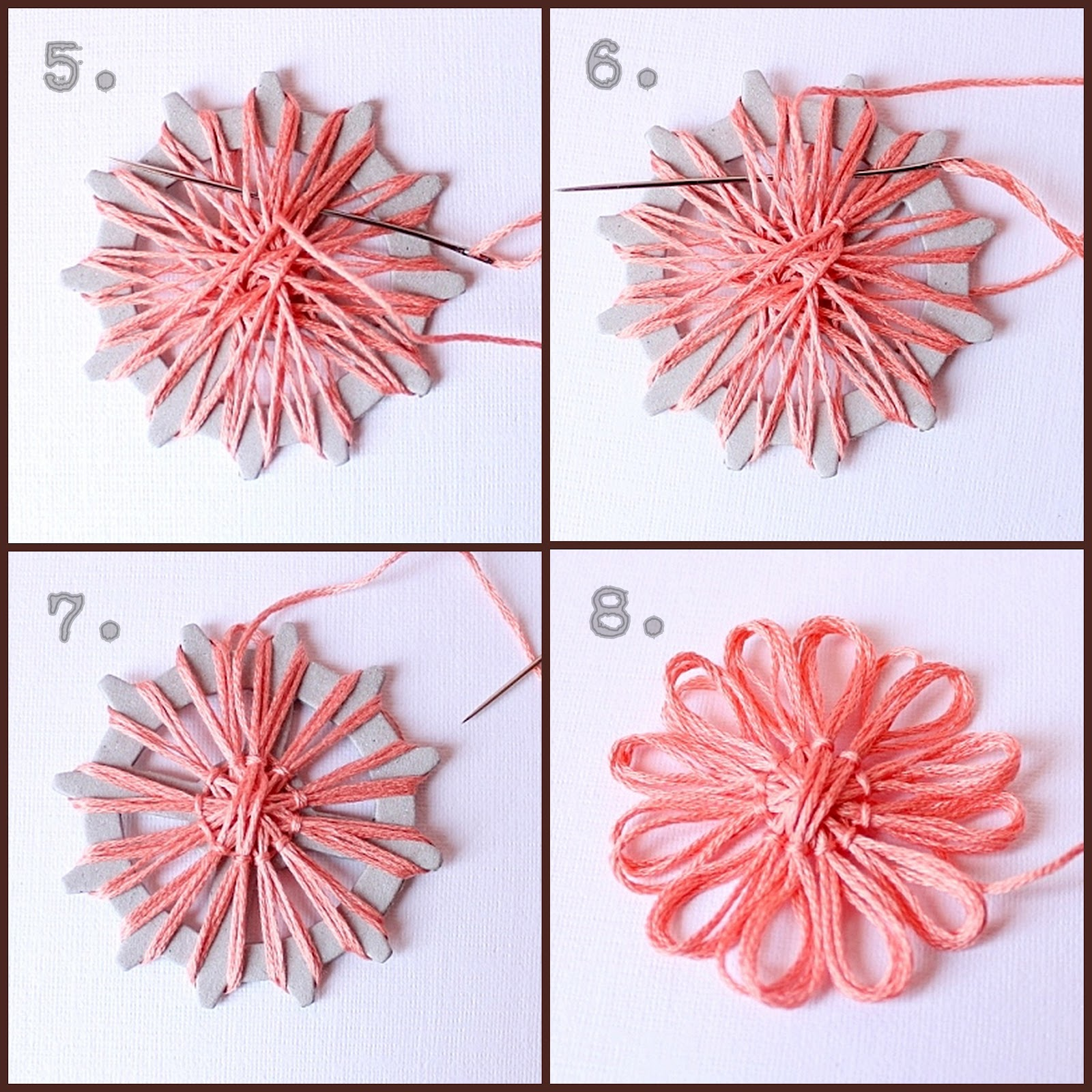 Сделай сам своими руками цветы из ниток