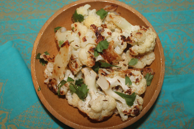 Savory Moments: Cumin and lemon roasted cauliflower