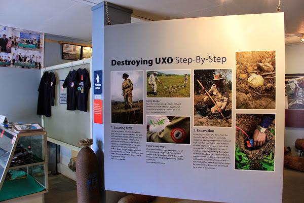 UXO Museum in Luang Prabang Laos