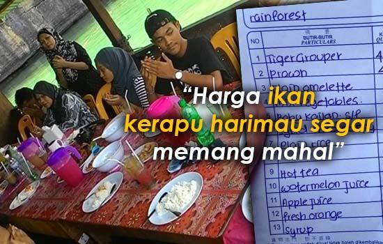 Jawapan Buat Cikgu yang Terkejut Resit Makan Tengah Hari RM1,131 di Langkawi