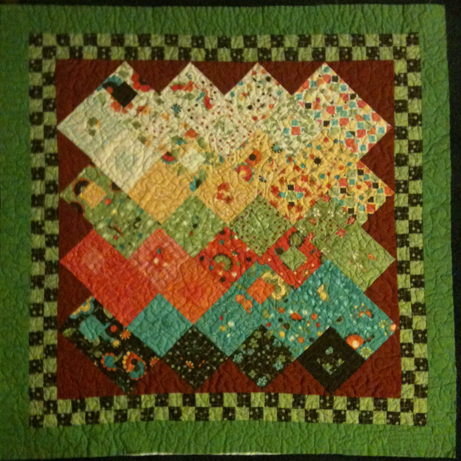 s house charm pack baby quilt