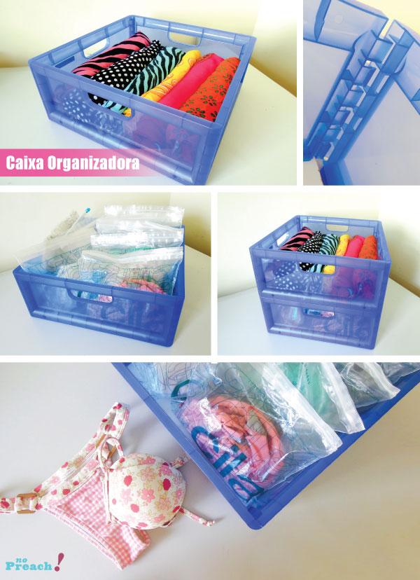 caixas organizadoras - roupas de praia