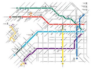 Mapa subte Buenos Aires