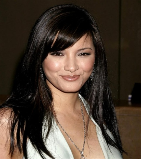 Kelly Hu layered hairstyle