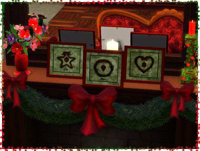 My sims 3 blog holiday table top paintings by joyfulgirl for Table top jocel jf 85