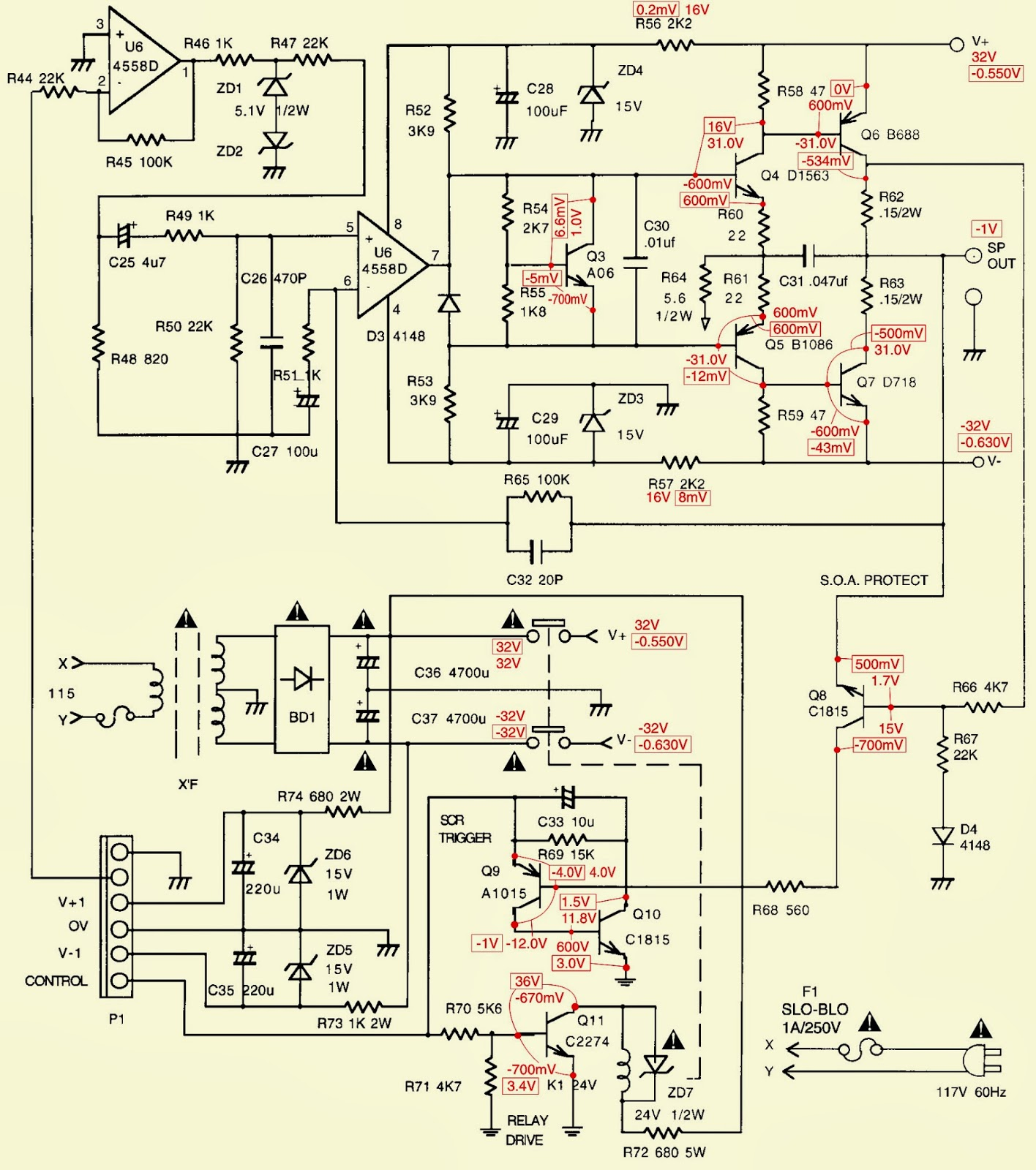 POWER+AMP+SCHEMATIC.bmp jbl arc sub _ test procedure _ schematic diagram (circuit diagram arc 3701 wiring diagram at fashall.co