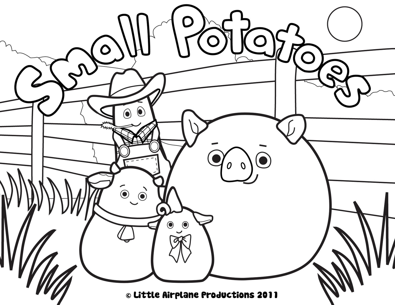 Potato 1 coloring page free printable coloring pages - Sunday December 4 2011