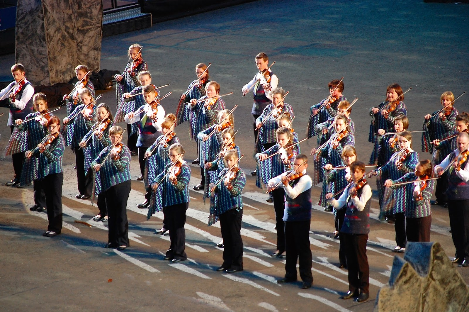 Shetland fiddlers at Royal Edinburgh Military Tattoo