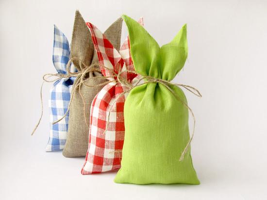 Burlap gift bag, мешки из льна