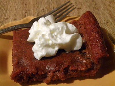 Plate of Persimmon Pudding with Whipped Cream