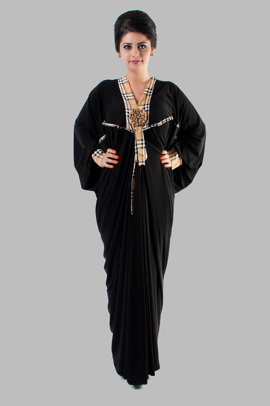 Embroidered abaya designs 2013 islamic abaya dress Fashion embroidery designs