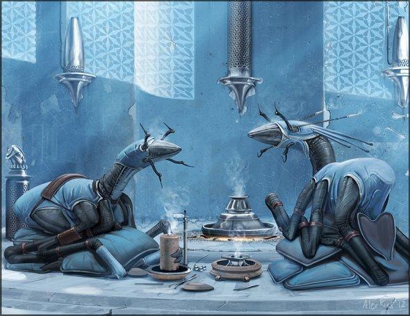 Alex Ries abiogenisis deviantart ilustrações ficção científica surreal alienígenas planetas espacial