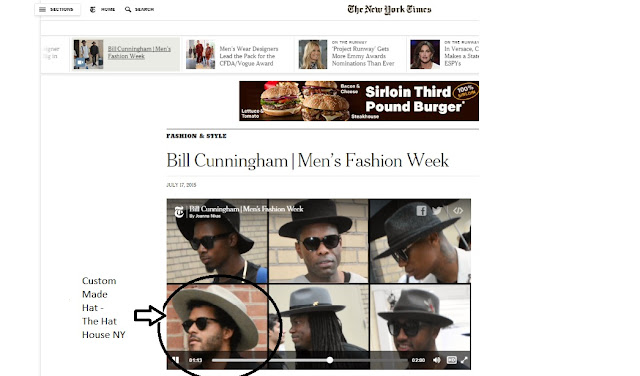 Mens Fashion Week Hats New York Times and The Hat House NY