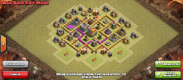 Diseño de aldeas con ayuntamiento nivel 6