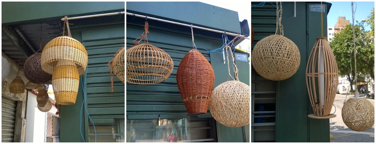 Banca de produtos artesanais na cidade de Santos