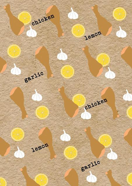 Recipe pattern lemon garlic chicken