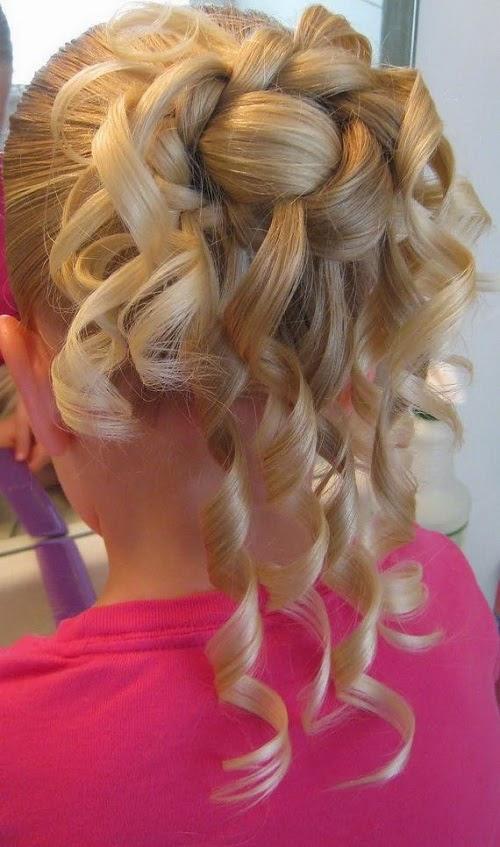 Peinados con Bucles, Niña de las Flores