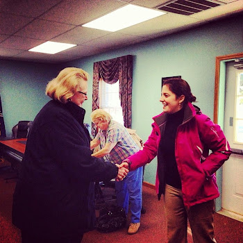 Elise Stefanik Greets Supporter in Champlain