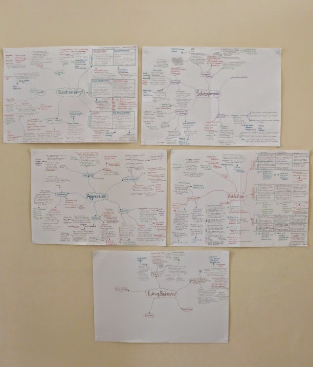 A level revision mind maps psychology