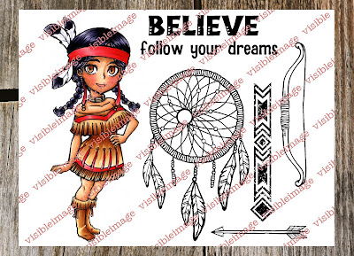 Tala Catching Dreams Set - Indian character stamp - Visible Image