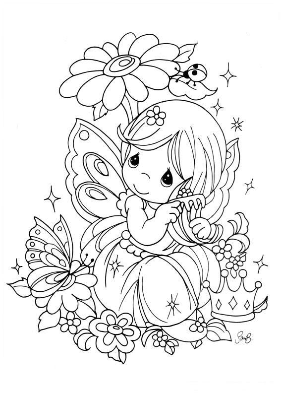 precious moments fairy coloring