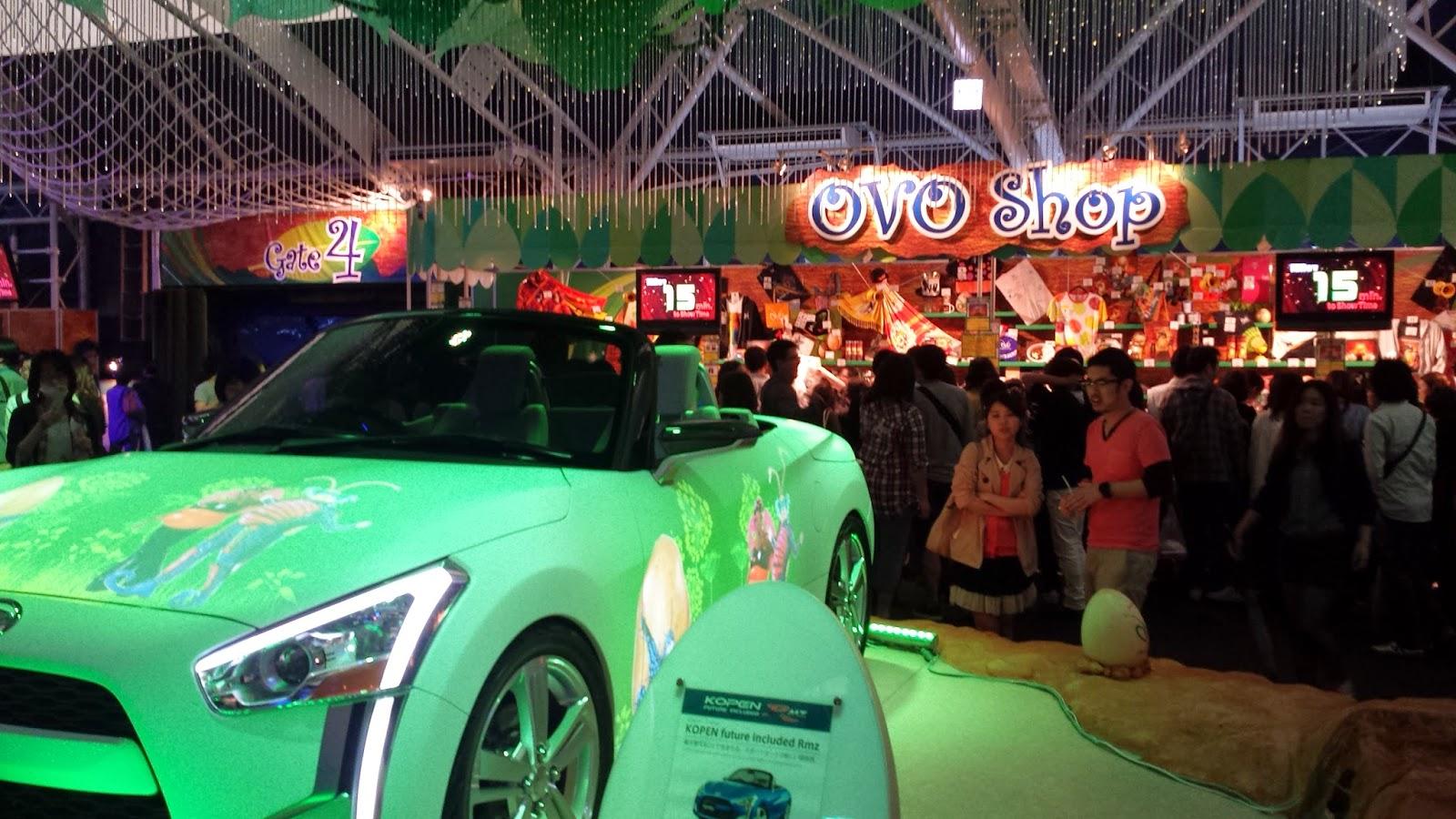 cirque du soleil, ovo, tokyo, japan, circus, car