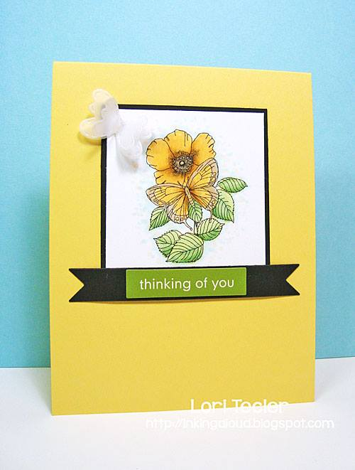 Thinking of You card-designed by Lori Tecler/Inking Aloud