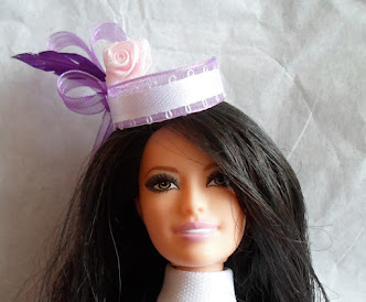 easter bonnet from bottle cap for barbie