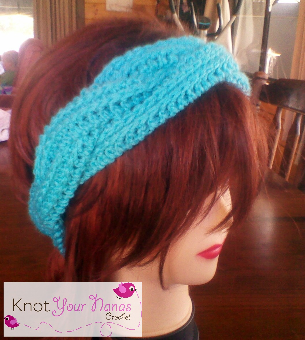 Knot your nanas crochet braided crochet headband crochet braided headband baditri Image collections