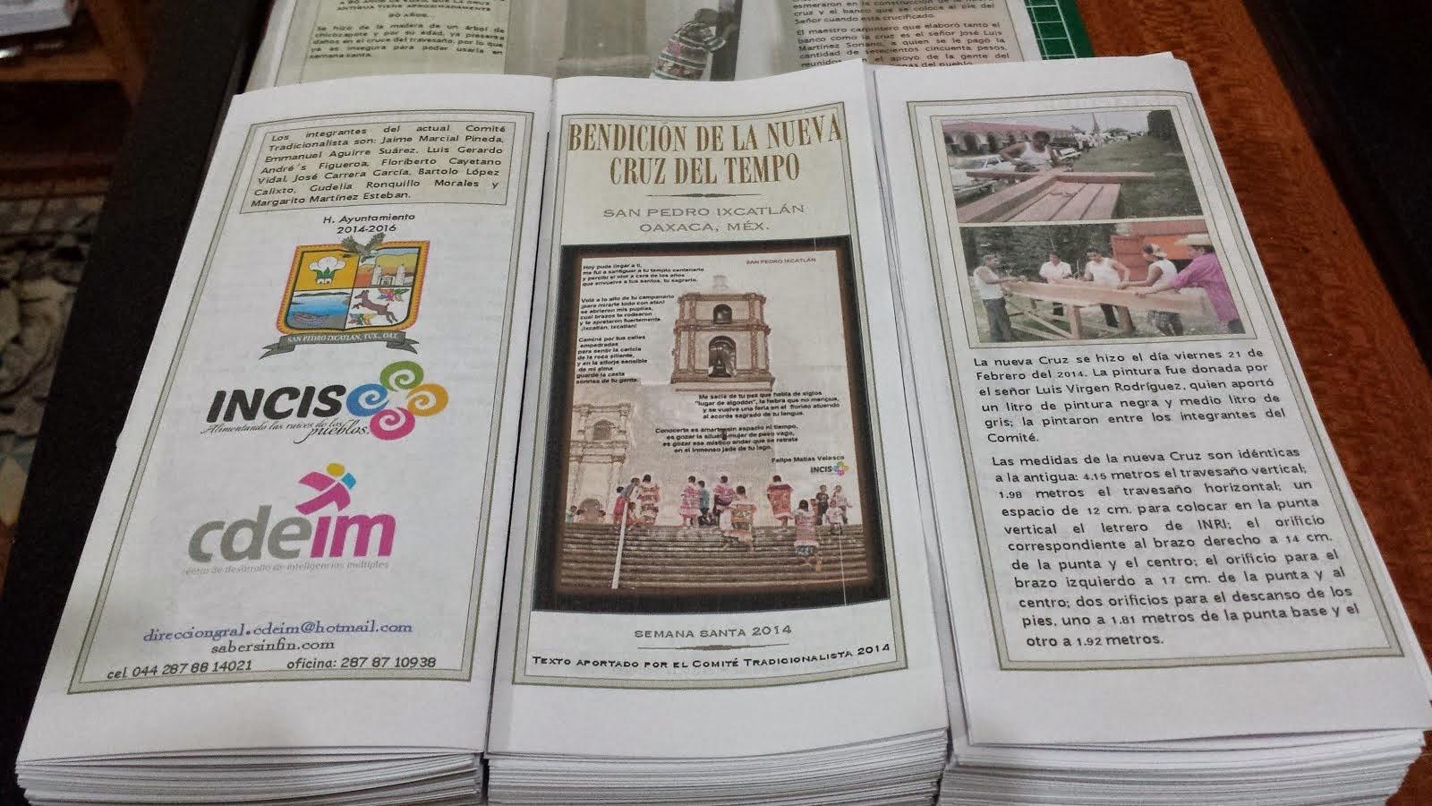 Nueva cruz en Ixcatlán
