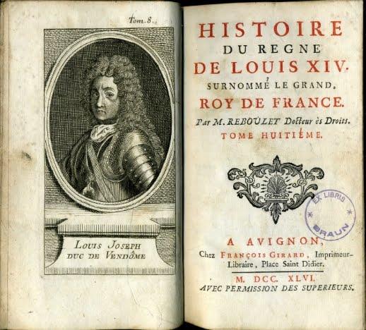 1746 HISTORIA DEL REINO DE LUIS XIV REY DE FRANCIA