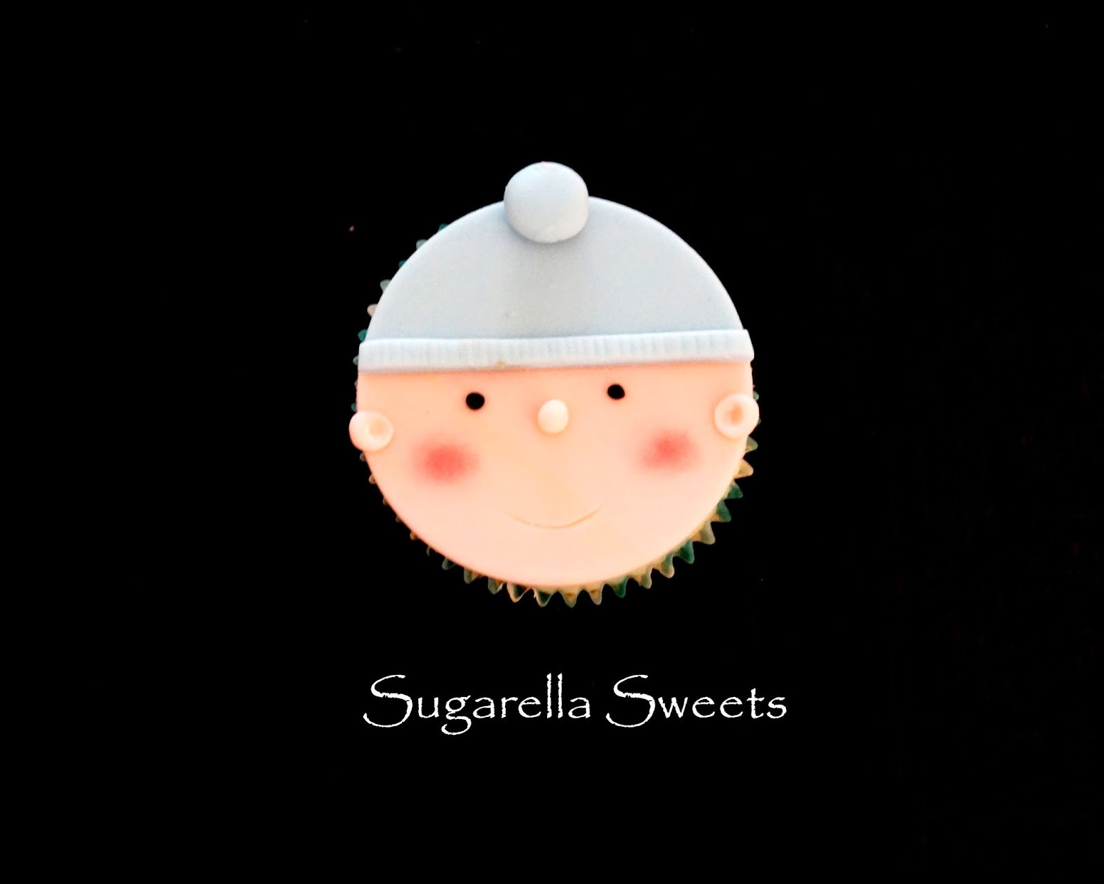 """baby face cupcake""""baby shower cupcakes""""baby cupcake topper"""