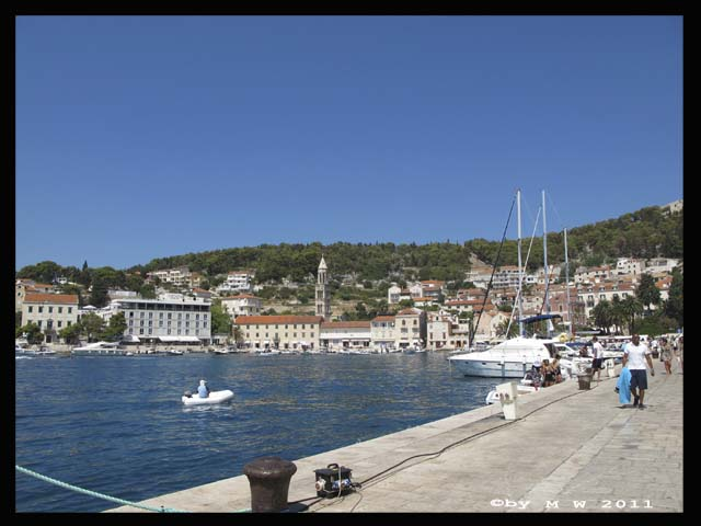 View from Hvar's port