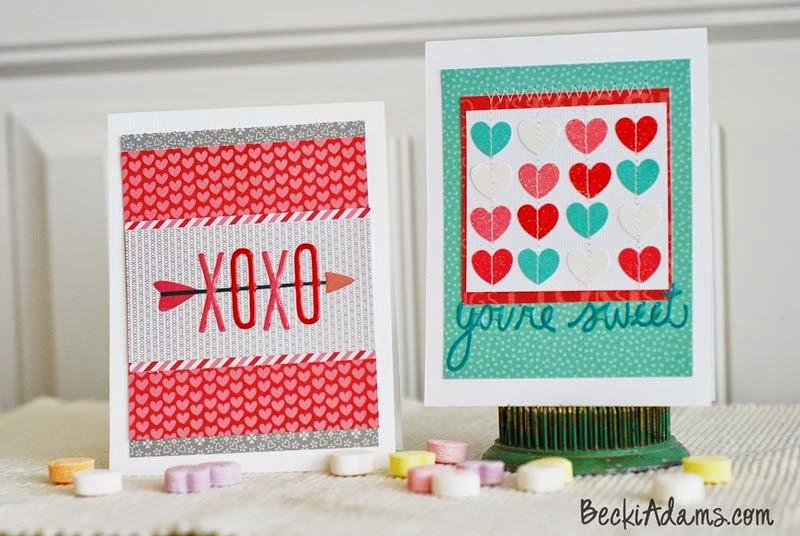 Easy Handmade Valentines by @jbkadams #handmadecards #handmadeValentines #papercrafting #valentines