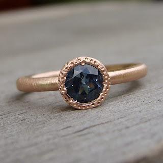 sapphire rose gold