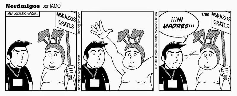 Nerdmigos Abrazos Gratis Comic-Con por IAMO