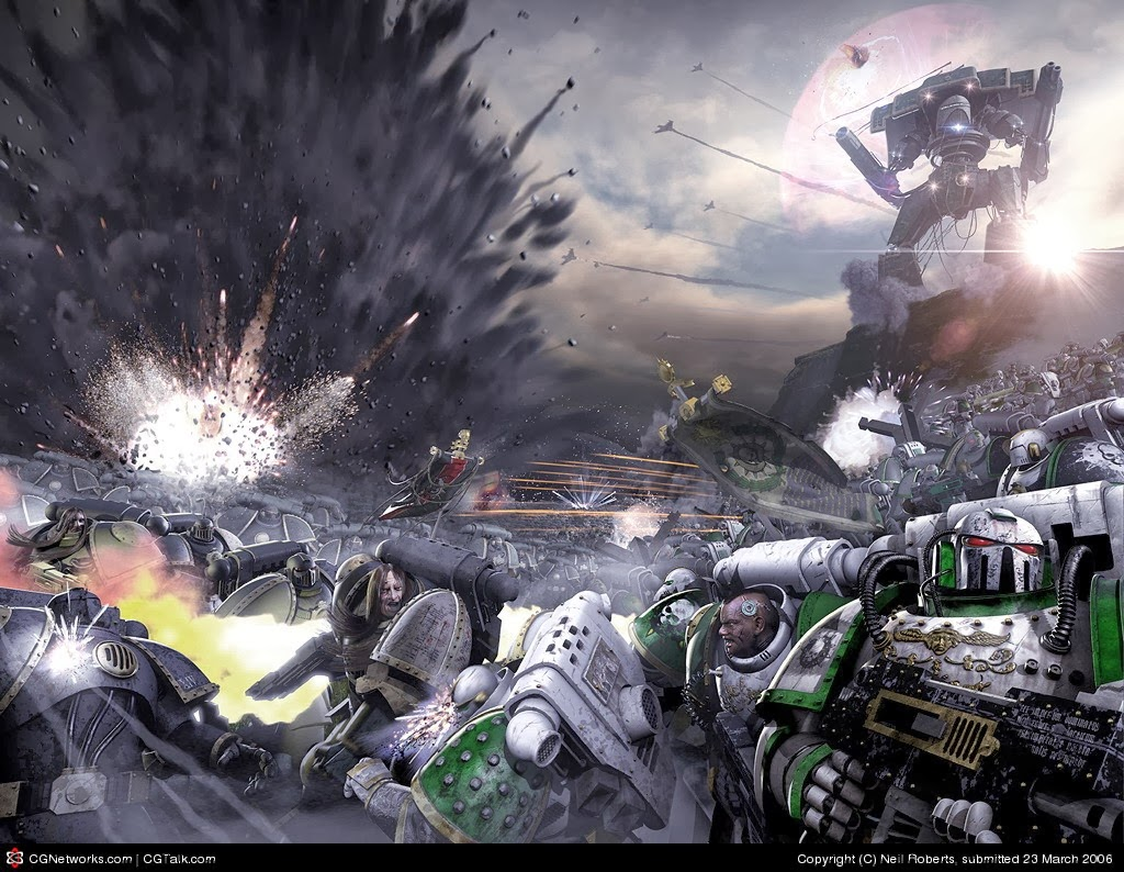 la galaxia en llamas warhammer .
